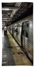 Nyc Subway Hand Towel by Martin Newman