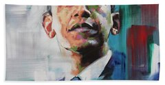 Obama Hand Towel by Richard Day