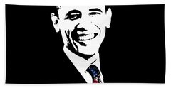 Obama Hand Towel by War Is Hell Store