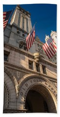 Old Post Office Washington D C Hand Towel by Steve Gadomski