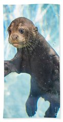 Otter Cuteness Hand Towel by Jamie Pham