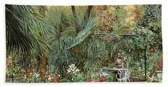 Our Little Garden Hand Towel by Guido Borelli