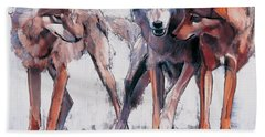 Pack Leaders Hand Towel by Mark Adlington