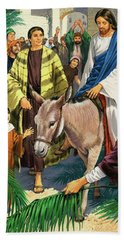 Palm Sunday Hand Towel by Clive Uptton