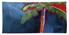 Palm Tree- Art By Linda Woods Hand Towel by Linda Woods