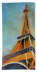 Paris Hand Towel by Jutta Maria Pusl