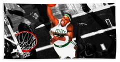 Paul Pierce In The Paint Hand Towel by Brian Reaves
