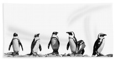 Penguins Hand Towel by Delphimages Photo Creations