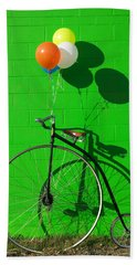 Penny Farthing Bike Hand Towel by Garry Gay