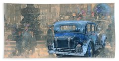 Phantom In Piccadilly  Hand Towel by Peter Miller
