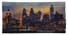 Philadelphia Skyline Hand Towel by Susan Candelario