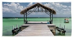 Pigeon Point, Tobago#pigeonpoint Hand Towel by John Edwards