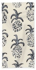 Pineapple Print Hand Towel by Anne Seay