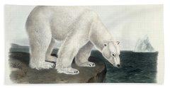 Polar Bear Hand Towel by John James Audubon