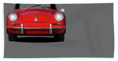 Porsche 356 Hand Towel by Mark Rogan