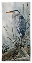 Portrait In The Wild Hand Towel by James Williamson