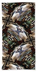 Predator And Prey Hand Towel by Maria Watt