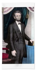 President Abraham Lincoln In Color Hand Towel by War Is Hell Store
