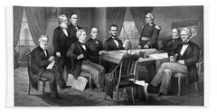President Lincoln His Cabinet And General Scott Hand Towel by War Is Hell Store