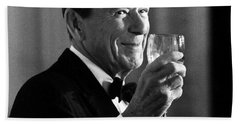 President Reagan Making A Toast Hand Towel by War Is Hell Store