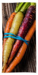 Rainbow Carrots Hand Towel by Garry Gay