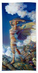 Rapture And The Ecstasea Hand Towel by Patrick Anthony Pierson