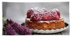 Raspberry Tarte Hand Towel by Nailia Schwarz