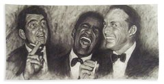 Rat Pack Hand Towel by Cynthia Campbell