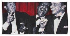 Rat Pack Hand Towel by Luis Ludzska