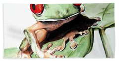 Red Eyes Hand Towel by Ilaria Andreucci