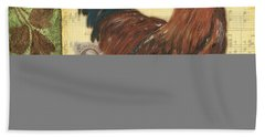 Retro Rooster 2 Hand Towel by Debbie DeWitt