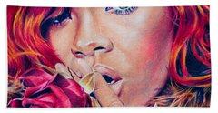 Rihanna Hand Towel by Brian Owens