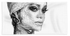 Rihanna Hand Towel by Rafael Salazar