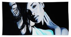 Rihanna Hand Towel by Richard Garnham
