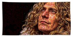 Robert Plant Led Zeppelin Hand Towel by Marvin Blaine