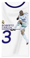 Roberto Carlos Hand Towel by Semih Yurdabak