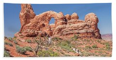 Hand Towel featuring the photograph Rock Formation, Arches National Park, Moab Utah by A Gurmankin