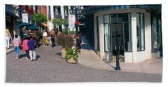 Rodeo Drive, Beverly Hills, California Hand Towel by Panoramic Images