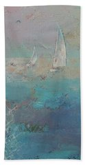 Sailboats Hand Towel by Michael Creese