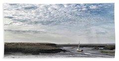 Salt Marsh And Creek, Brancaster Hand Towel by John Edwards