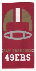 San Francisco 49ers Vintage Art Hand Towel by Joe Hamilton