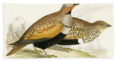 Sand Grouse Hand Towel by English School