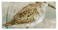 Sandpiper I Hand Towel by Mindy Sommers