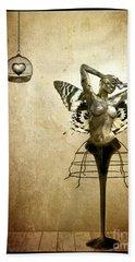 Scream Of A Butterfly Hand Towel by Jacky Gerritsen