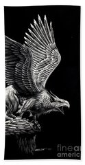 Screaming Griffon Hand Towel by Stanley Morrison