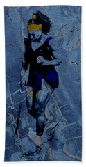 Serena Victories Etched In Stone Hand Towel by Brian Reaves