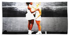 Serena Williams And Angelique Kerber 3a Hand Towel by Brian Reaves