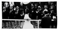Serena Williams Eye On The Prize Hand Towel by Brian Reaves