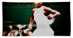 Serena Williams Making History Hand Towel by Brian Reaves
