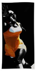 Serena Williams Putting It In Hand Towel by Brian Reaves